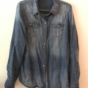 Chambray western button down
